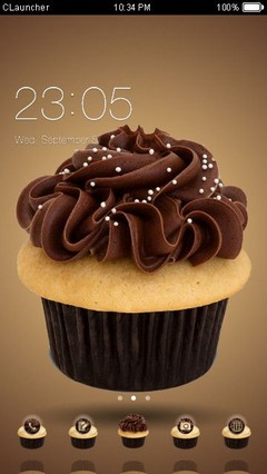 Chocolate Cupcake Clauncher Theme