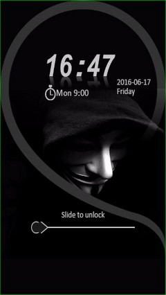 Anonymous Guy Mask Go Locker Theme