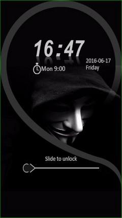 Anonymous Guy Mask Go Locker Theme