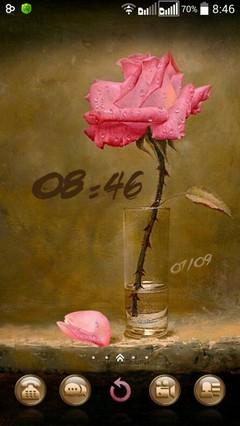 Rose in a glass ..