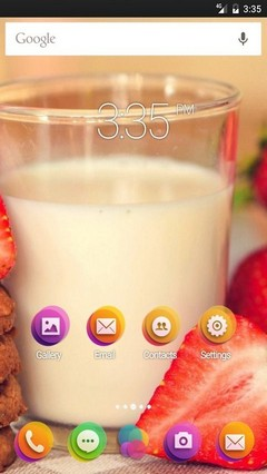 Milk Breakfast Cookies Go Launcher Theme