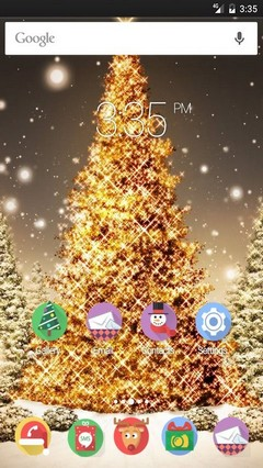 Gold Tree Xmas Multi Launcher Theme