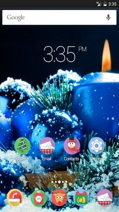 Blue candle x-mas Multi Launcher Theme