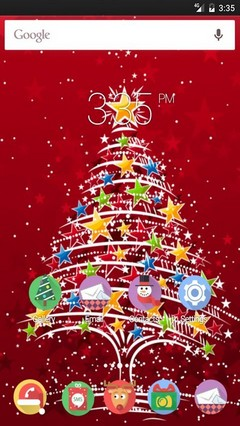Christmas tree red GO Launcher Theme