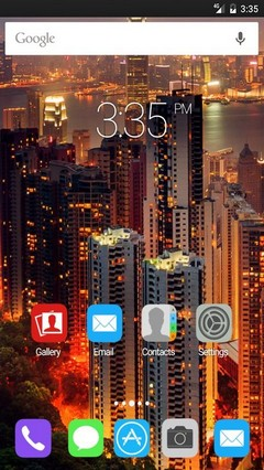 Hong kong wide GO Launcher Theme