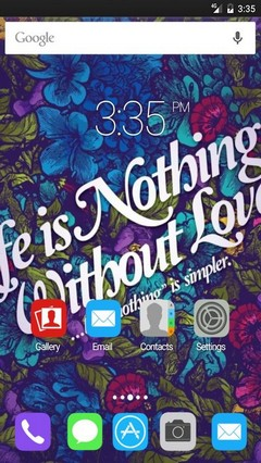 LIfe nothing without love Nova Launcher Theme