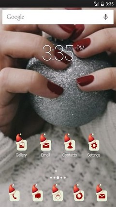 Xmas red nails photo ADW Launcher Theme