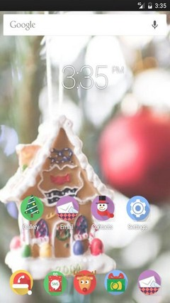 Sweet home merryxmas Apex Launcher Theme