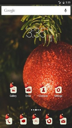 Xmas Tree happy day GO Launcher Theme