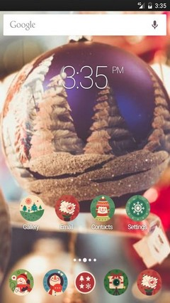 Christmas mood every Nova Launcher Theme