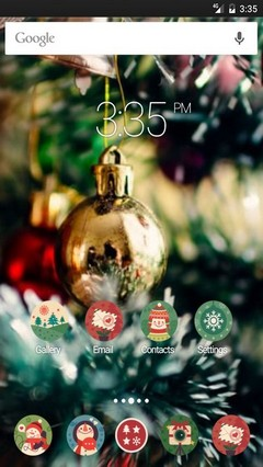 Beautiful xmas tree ADW Launcher Theme