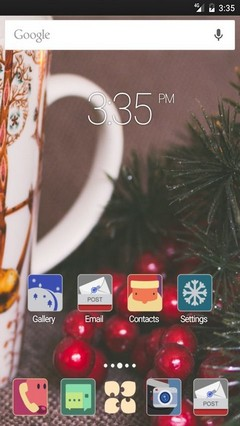 Happy X-mas Apex Launcher Theme