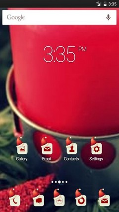 Candle xmas red star Nova Launcher Theme