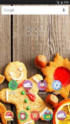 Christmas sweets Nova Launcher Theme