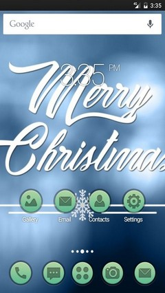 Christmas blue ADW Launcher Theme