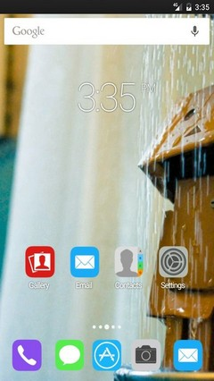 A quick shower ADW Launcher Theme