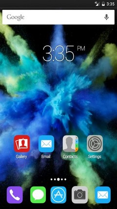 Cyan color burst GO Launcher Theme