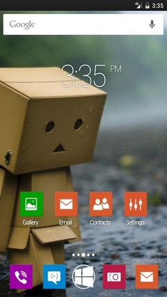 Danbo sad rain Nova Launcher Theme