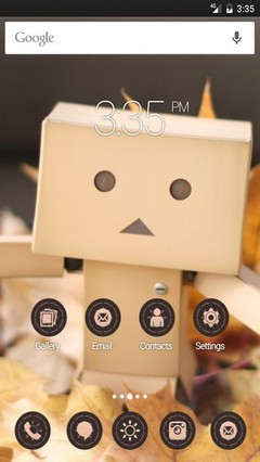 Danbo autumn leaf ADW Launcher Theme