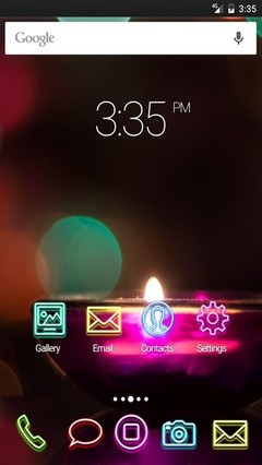 Candle flare shine ADW Launcher Theme