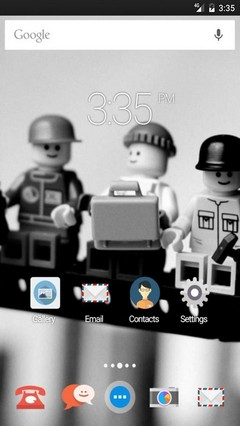 Black white lego Apex Launcher Theme