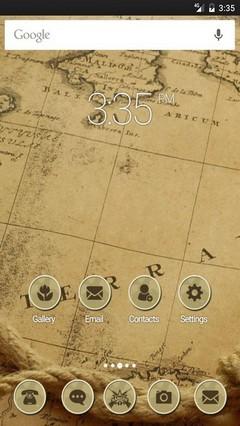 Retro wallpaper map ADW Launcher Theme