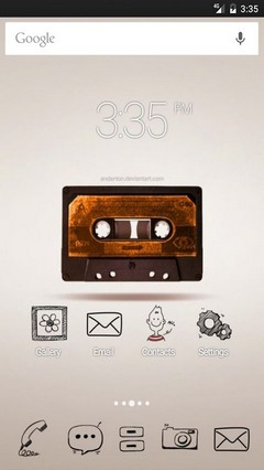 Retro music Apex Launcher Theme