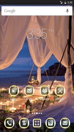 Romantic night Apex Launcher Theme