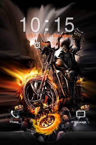 Ghost Rider Bike Locker