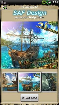 Pirate GO Launcher EX Theme 1.03