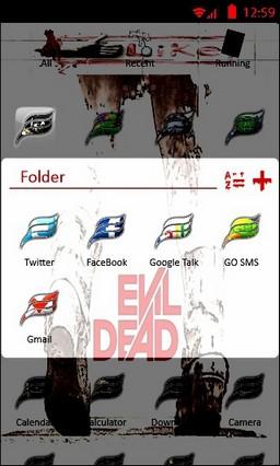 Evil Dead Go Launcher Theme