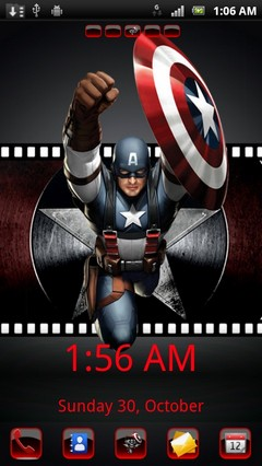 captain america go launcher ex theme