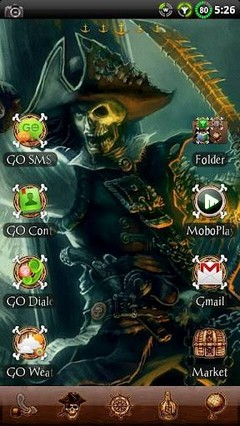 Pirate GO Launcher EX Theme 1.03