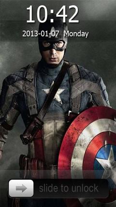 Captain America Go Locker Theme for Android Phone