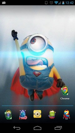 Minions Superhero Android Theme HD