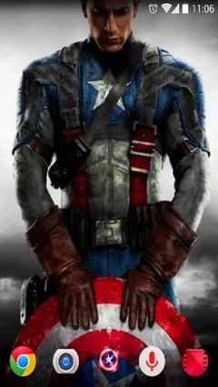Captain America Theme for Apex Nova launchers