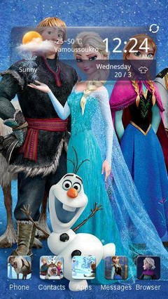 Frozen CLauncher Theme