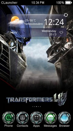 TRANSFORMERS CLauncher Theme
