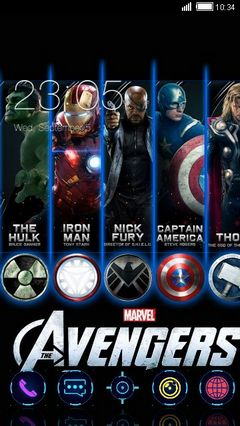 PHONEKY - avengers Android Themes