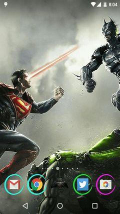 Batman vs superman Android Launcher Theme