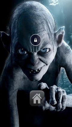 Gollum Lord Lock Screen Theme