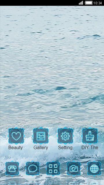 blue ocean waves sea