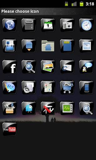 Black Gloss GO Launcher Theme 13.0
