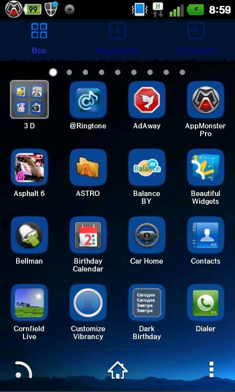 Blue Moon Go Launcher Ex Theme 1.0