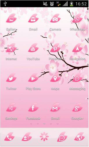 Pink Cherry Flower GO Theme