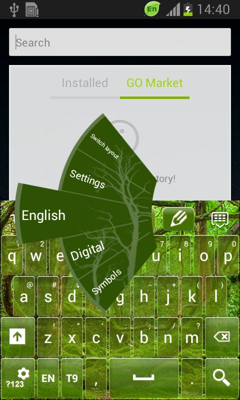 Green Wood Keyboard