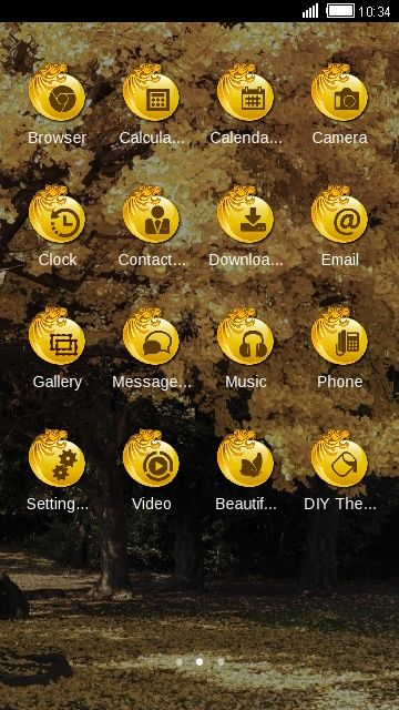 Golden Trees Clauncher Theme