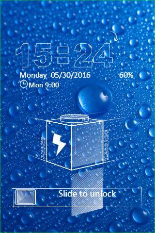 Blue Water Drops Go Locker Theme