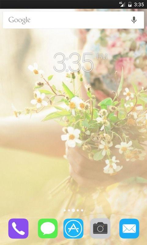 Mood Girl Flowers Bokeh ADW Launcher Theme