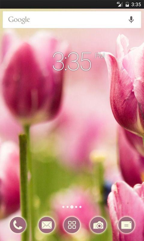 Pretty Pink Tulips ADW Launcher Theme